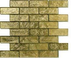 Mosaic Tile: Solistone Flooring Folia Golden Willow 12 in. x 12 in. x mm Gold Glass Mesh-Mounted Mosaic Wall Tile sq. Mosaic Wall Tiles, Mosaic Glass, Glass Brick, Best Floor Tiles, Glass Subway Tile, Glass Tiles, Gold Glass, Decorative Tile, Mosaic Patterns