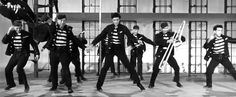 """""""Jailhouse Rock""""  """"The warden threw a party in the county jail The prison band was there and they began to wail The band was jumpin' and the joint began to swing You should've heard those knocked out jailbirds sing"""
