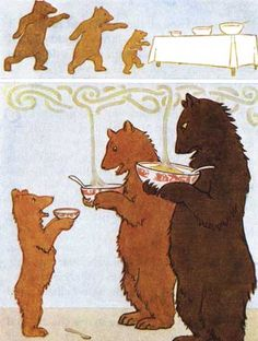 Goldilocks and the Three Bears - Fairy Tales edited by Harry Golding, 1915
