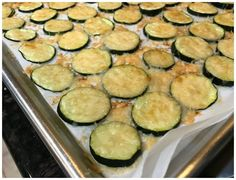 Low Carb Zucchini Parmesan Chips - Keto Friendly Recipe I am determined not to get bored in this keto lifestyle so I made some of the most delicious Low Carb Zucchini Parmesan Chips today! These chips were Parmesan Chips, Zucchini Parmesan, Super Healthy Recipes, Keto Recipes, Healthy Meals, Easy Meals, Zucchini Chips Recipe, Avocado Pasta, Keto Snacks