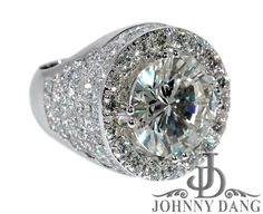 diamond ring settings | CMR-0004- Rodney Hunts Custom Invisible Setting Diamond Ring