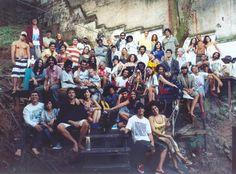 Hospedaria Carioca - foto de família feita por Murillo Meirelles no Teatro do Vidigal (2008)