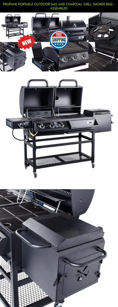 Propane Portable Outdoor Gas and Charcoal Grill Smoker BBQ - Assembled #camera #gadgets #parts #charcoal #kit #fpv #racing #tech #gas #products #technology #drone #shopping #plans #outdoor #and #grills