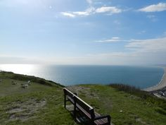 The best seat in the house (top of the Isle of Portland, Dorset, UK) looking out onto Chesil Beach and The English Channel. 16th May 2012