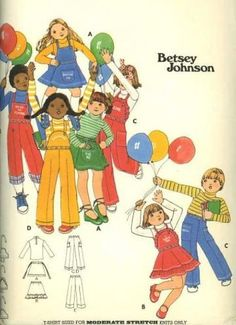 Vintage 1970s Butterick 4986 Sewing Pattern Toddler Separates by Betsy Johnson size 4 by SewMrsP