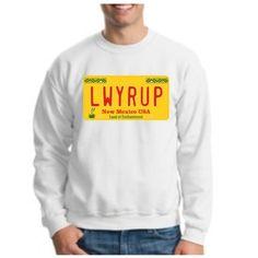 LWYRUP License Plate CREWNECK Sweatshirt Saul Goodman BREAKING BAD AMC T.V Show Crewneck Sweatshirt