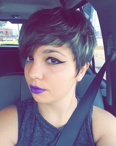 Sorry for lack of art lately. Been in a bad funk, combination of depression and dysphoria.  But anyways, I managed to get a haircut, so that's a plus!  #asexual #ace #spaceace #lgbt #genderqueer #genderfluid #pixiehair #pixiehaircut #shorthairdontcare #eyeliner #makeup #liquideyeliner #liquidliner #wingsonpoint #liquidlipstick #lipstick #purplelipstick #browsonfleek http://ameritrustshield.com/ipost/1551033589460830005/?code=BWGYNT2gwc1