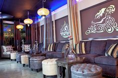 Our relaxing and comfy Hookah Lounge