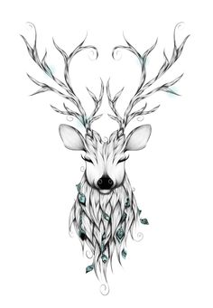 Poetic Deer Art Print