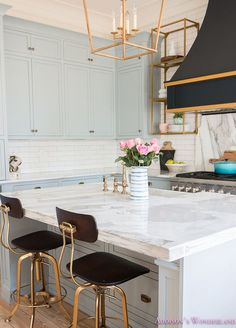 Beautiful Homes of Instagram. This is a great blend of finishes and colors.