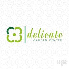 Delicate   logo #brand #sale #flower #green #eco #garden #center