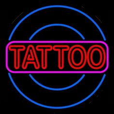 Round Tattoo Neon Sign Real Neon Light