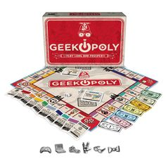 Late For The Sky Board Game Geek opoly Game Mrs Hudson, Monopoly Game, Typing Games, World Domination, Computer Technology, Geek Out, Game Pieces, Geek Chic, Party Games