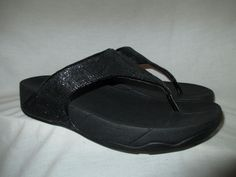 66d212156 NICE Black Sequin FITFLOP