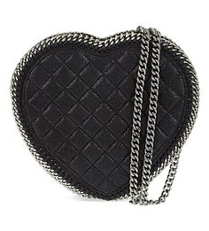 Quilted heart cross-body bag