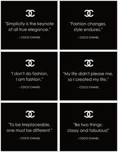 Famous Quotes By Coco Chanel free filofax printables Words Quotes, Wise Words, Me Quotes, Motivational Quotes, Inspirational Quotes, Sayings, Style Quotes, Quotes Women, Quotes Positive