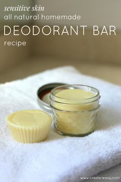 DIY All-Natural, Sensitive Skin Essential Oil Deodorant Recipe / Create / Enjoy deodorant solid Homemade essential oil stick/bar deodorant recipe for sensitive skin using less baking soda Diy Deodorant, Essential Oil Deodorant, Homemade Essential Oils, Essential Oils For Skin, Home Made Deodorant Recipes, Tea Tree Oil Deodorant, Diy Natural Deodorant, Diy Cosmetic, Pele Natural