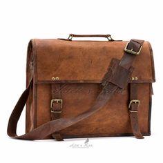 Satch & Fable Plain Leather Satchels (Front)