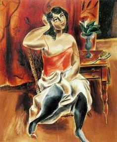 化粧 La Toilette 1927年 92.0x76.5cm 油彩/カンヴァス 福武書店蔵 福武書店が、美術品の収集を始めたのは昭和40年代前半からです。当時、社長であった故福武哲彦は、昭和54年ある大阪の画廊で、国吉康雄の作品と出会いました。作品に魅かれながらも、今まであまり大きな作品を購入したことはなく、ためらいを感じていました。しかし、作品の持つ力強さや、国吉が岡山出身であることを知り、思いは募るばかりでした。何度も画廊へ足を運んでいるうちについに「化粧」を購入する決心をしたのです。国吉康雄美術館にとっては、産声ともいえる貴重な国吉康雄との出会いでした。