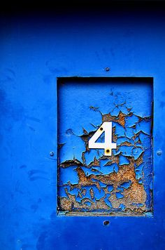 My 4th Pinnacle Number: 4 ages 48 & up You are in a period where you should be building a solid foundation on which to carry on your life. You may be building a home, family or career. Whatever you are doing, it is not a time in which you will or should take it easy. Le Grand Bleu, Bleu Indigo, Mood Indigo, Yves Klein, Peeling Paint, Blue Dream, Something Blue, Letters And Numbers, Belle Photo