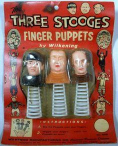 The Stooges finger puppets