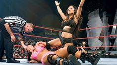 Gail Kim after defeating Victoria