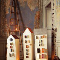 Des maisons en carton en guise de calendrier de l'avent - Marie Claire Idées