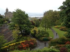View of princess gardens from the national gallery
