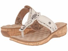 SoftWalk Womens Beaumont Ivory Slide Sandals Shoes 8 Narrow (AA,N)  #SoftWalk #Slides