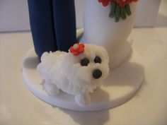 Mia the dog wedding cake topper Dog Cake Topper Wedding, Wedding Cakes, Dog Wedding, Bear Cakes, Desserts, Food, Wedding Gown Cakes, Tailgate Desserts, Deserts