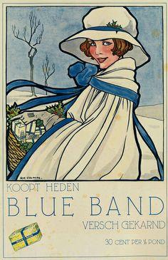 Advertentie van Blue band 1926 #Reclame #advertentie #Boter #Affiche
