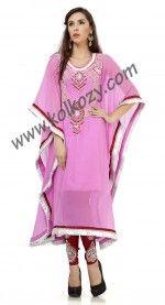 Rich Baby Pink #Salwar #Kameez Style #Kaftan
