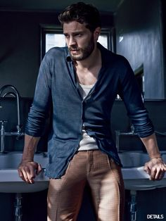 Pin for Later: These Steamy Photos of Jamie Dornan's Sexy Body Will Have You Reaching For a Fan When His Pants Looked Like They Were Painted On
