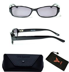 (#FR6109 Blk) Men & Women Casual Style Frame Plastic Sun Reader Reading Glasses And Sunglasses Eyewear for Outdoor + Cleaning Cloth (NOT BI-FOCAL Glasses) (Black, 1.50)