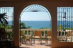 View from the lobby of Hacienda Tamarindo in Vieques Puerto Rico.