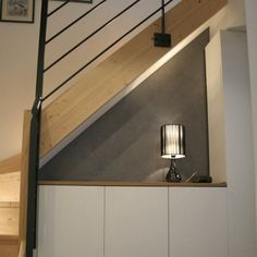 42 Ideas Under Stairs Storage Diy Cupboards Staircase Storage, Stair Storage, Staircase Design, Diy Storage, Staircase Ideas, Storage Room, Storage Ideas, Basement Stairs, House Stairs