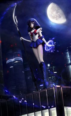 Sailor Saturn by Einheit00 | January is Sailor Saturn time!  http://myfigurecollection.net/picture/891569