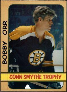 Topps Conn Smythe Trophy - Bobby Orr Boston Bruins, Hockey Cards That… Fantasy Football Funny, Ice Hockey Teams, Hockey Stuff, Canada Hockey, Bobby Orr, Boston Bruins Hockey, Hometown Heroes, Boston Sports, Cards