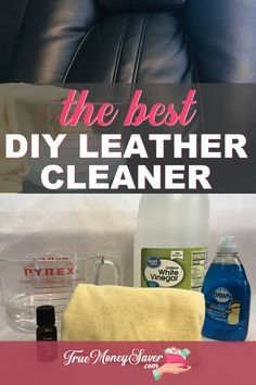 Diy Leather Couch Cleaner, Leather Purse Cleaner, Natural Leather Cleaner, Clean Leather Purse, All Natural Cleaning Products, Homemade Cleaning Products, Cleaning Recipes, Diy Cleaners, Cleaners Homemade