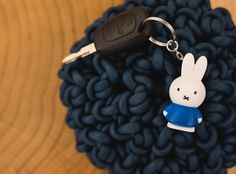 Nijntje Miffy Keyring by bb collections  You would not want to leave this miffy keyring staying still alone. Bring her with you to every journey you go :D Contact sales@qualyandco.com for more wholesales information and worldwide   #nijntje #miffy #keyring #atelierpierre #blue #carkey #keyholders #cute #bunny #accessories #distributor #wholesales