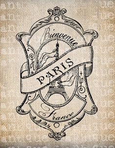 Antique Paris French Welcome Ornate by AntiqueGraphique on Etsy, $1.00