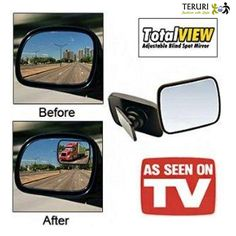 Qoo10 - (Superior Quality)TOTAL VIEW Adjustable Blind Spot Mirror: Car Panoram... : Automotive Group buy : $7.49 25/5/14 Time left 1 day