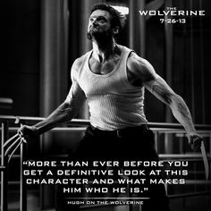 Fox has tweeted (see, that had a point) a new photo from the Wolverine that contains a quote about the film from Hugh Jackman himself. Description from news.comicui.com. I searched for this on bing.com/images