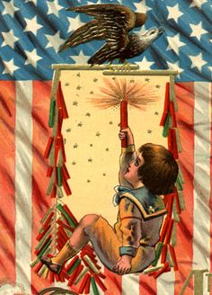 Fourth of July postcards... I love vintage fourth of july images... they're so cool