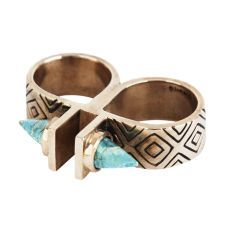 Pamela Love | Paramount Double Finger Ring with stones