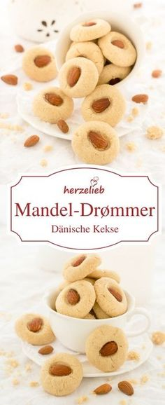 Plätzchen Rezepte: Mandel-Drømmer - Rezept aus Dänemark. Einfach und leicht sind diese Cookies von herzelieb zu  backen! #kekse #plätzchen #cookies #deutsch #foodblog Shared by Where YoUth Rise