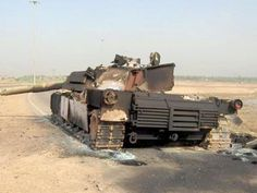 Destroyed M1 Abrams