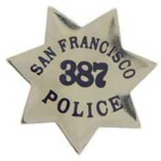 "San Francisco Police Badge Pin 1"" by FindingKing. $8.99. This is a new San Francisco Police Badge Pin 1"""