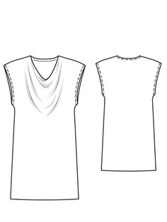 Burda Style:Light Cowl Dress 01/2013 #123B