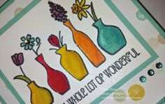 Crafting On Hat: Flowers for Mom, Vivid Vases, Blendabilities, Stampin' Up!, Papercrafting, DIY, Cards, Alcohol Markers